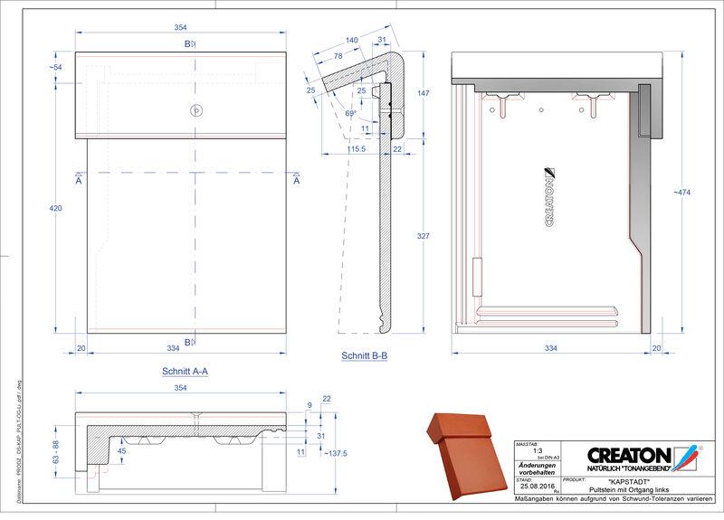Proizvod CAD file KAPSTADT betonski pult crijep rubni lijevi PultOGL