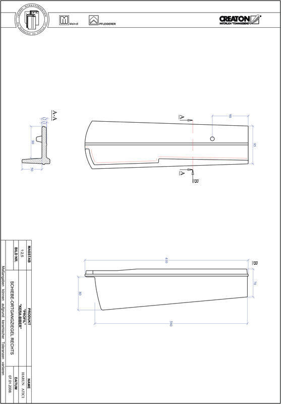 Proizvod CAD file PROFIL segmentni rez KERA-SAECHS-18-CM-OGR