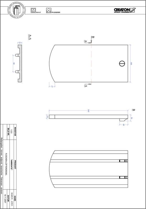 Proizvod CAD file AMBIENTE segmentni rez SEG-FLUEFTZ
