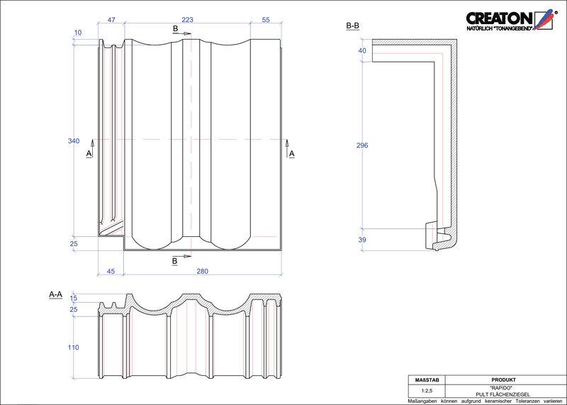 Proizvod CAD file RAPIDO pult crijep PULTFLA