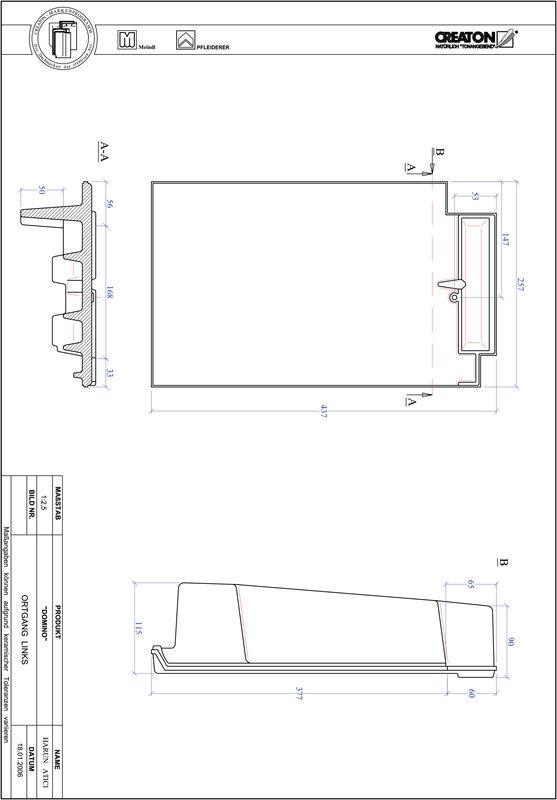 Proizvod CAD file DOMINO rubni lijevi OGL