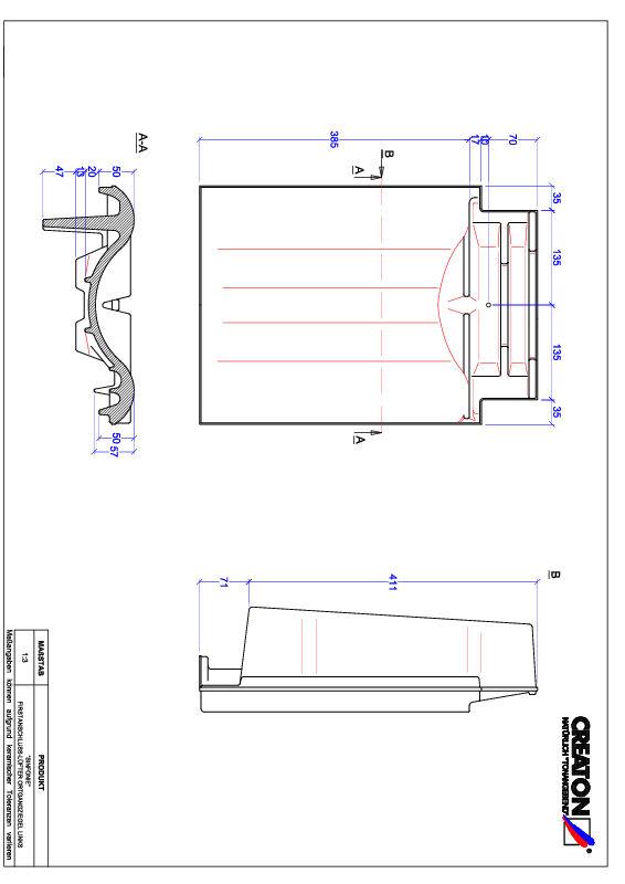 Proizvod CAD file SINFONIE podsljemeni odzračni rubni lijevi crijep FALOGL