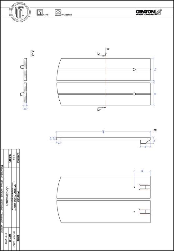 Proizvod CAD file PROFIL segmentni rez KERA-SAECHS-18-CM-LH