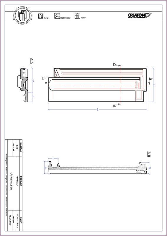Proizvod CAD file OPTIMA polovica crijepa LH