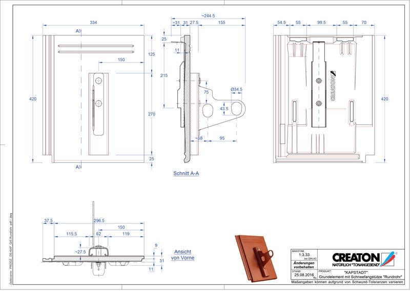 Proizvod CAD file KAPSTADT osnovna ploča Rundrohr