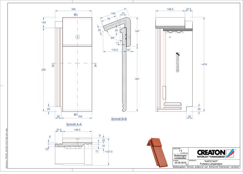 Proizvod CAD file KAPSTADT betonski pult crijep Pult-halb