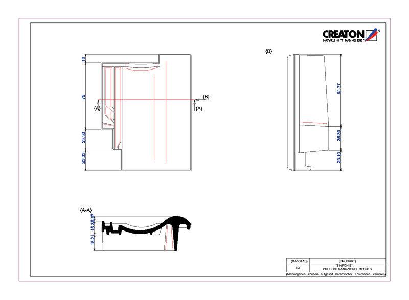 Proizvod CAD file SINFONIE pult crijep rubni desni PULTOGR
