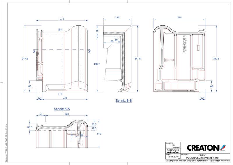 Proizvod CAD file MZ3 NEU pult crijep rubni desni PULTOGR