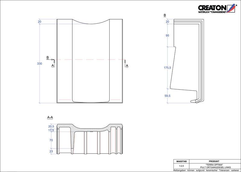 Proizvod CAD file OPTIMA pult crijep rubni lijevi PULTOGL