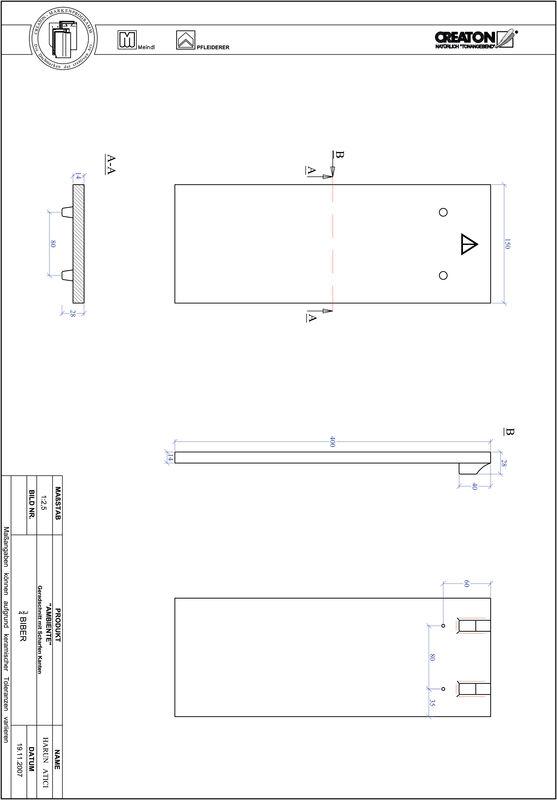 Proizvod CAD file AMBIENTE ravno rezani GER-3-4