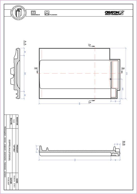 Proizvod CAD file OPTIMA crijep sa dva vala DWZ