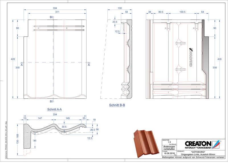 Proizvod CAD file GÖTEBORG betonski pult crijep rubni lijevi PultOGL-90
