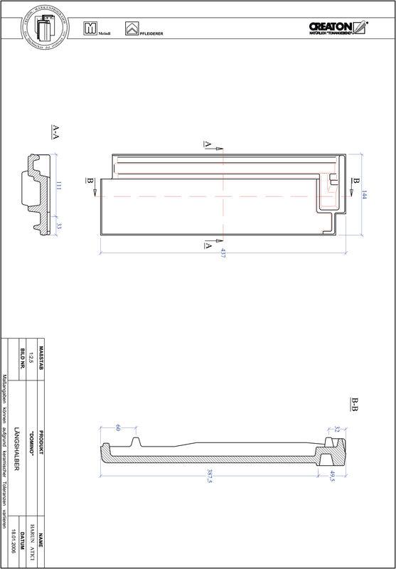 Proizvod CAD file DOMINO polovica crijepa LH