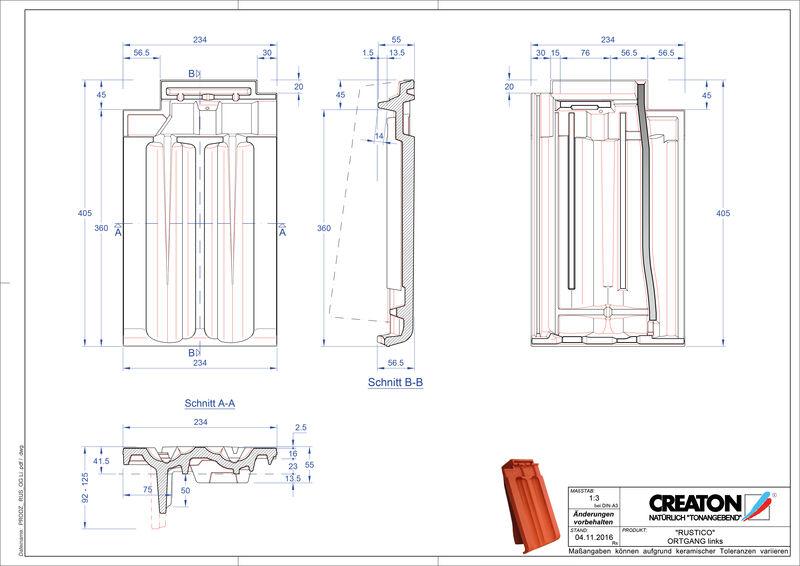 Proizvod CAD file RUSTICO rubni lijevi OGL