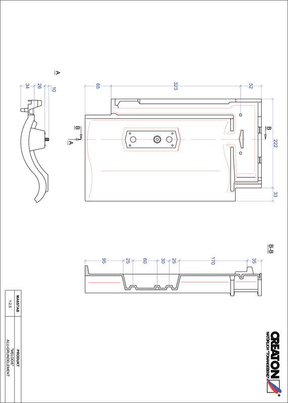 Proizvod CAD file MELODIE aluminijski crijep GRUNDALU