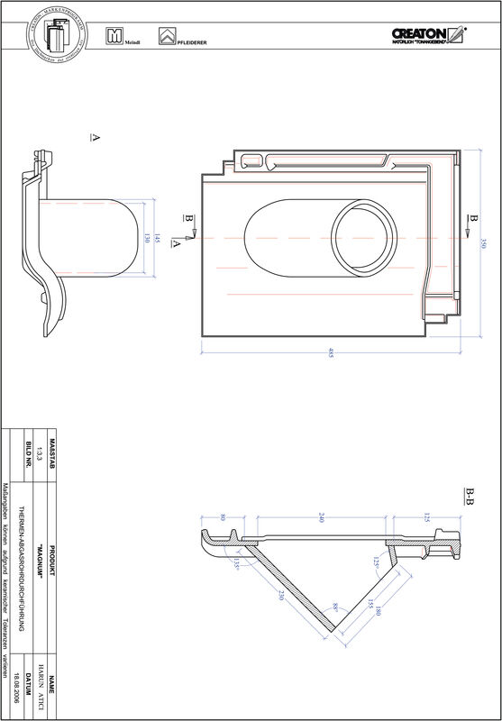 Proizvod CAD file MAGNUM dimovodni crijep THERME