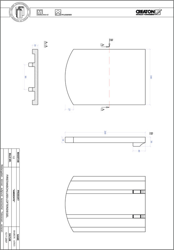 Proizvod CAD file AMBIENTE segmentni rez SEG-FALZ