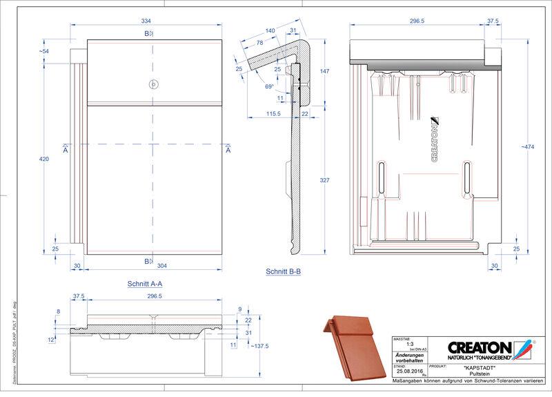 Proizvod CAD file KAPSTADT betonski pult crijep PULTSTEIN