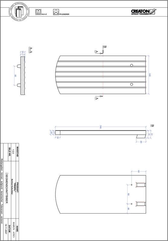 Proizvod CAD file PROFIL segmentni rez BKBI-1-1