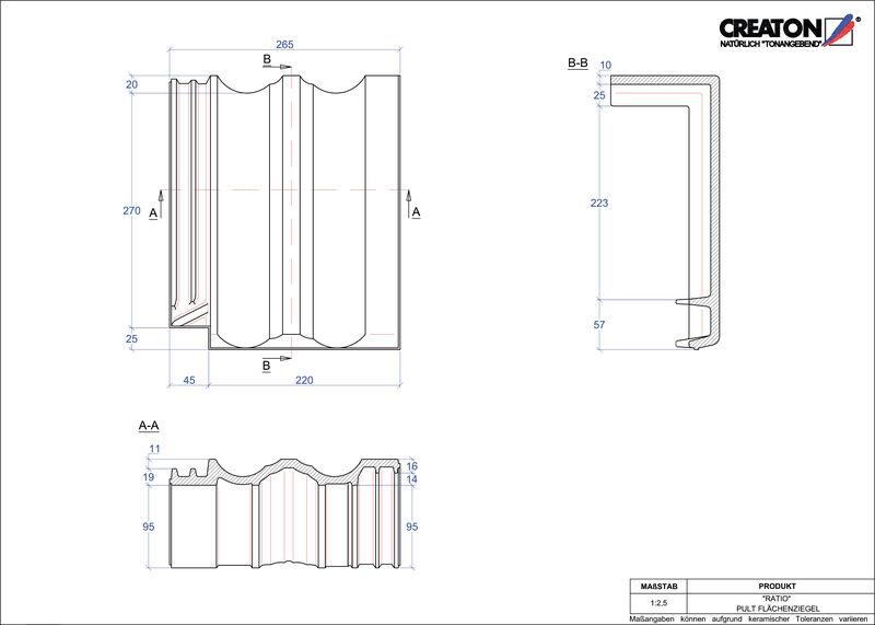 Proizvod CAD file RATIO pult crijep PULTFLA