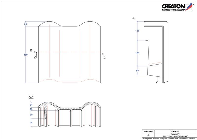 Proizvod CAD file BALANCE pult crijep rubni lijevi PULTOGL