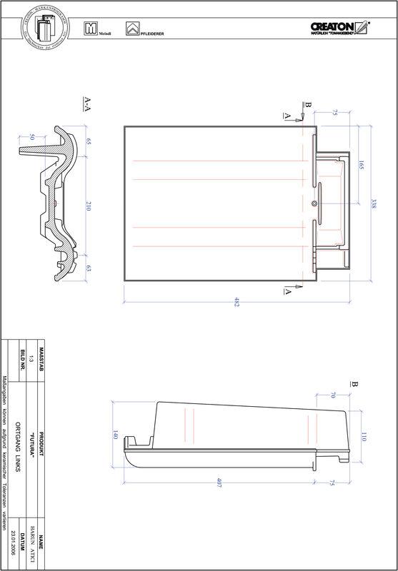 Proizvod CAD file FUTURA rubni lijevi OGL