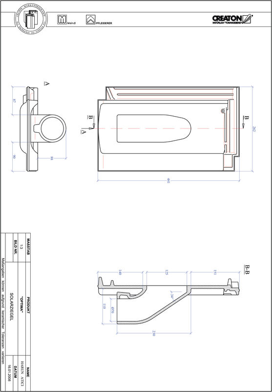 Proizvod CAD file OPTIMA prolaz cijevi solarnog kolektora SOLAR