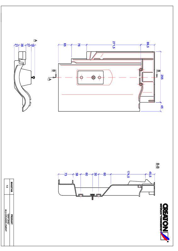 Proizvod CAD file SINFONIE aluminijski crijep GRUNDALU