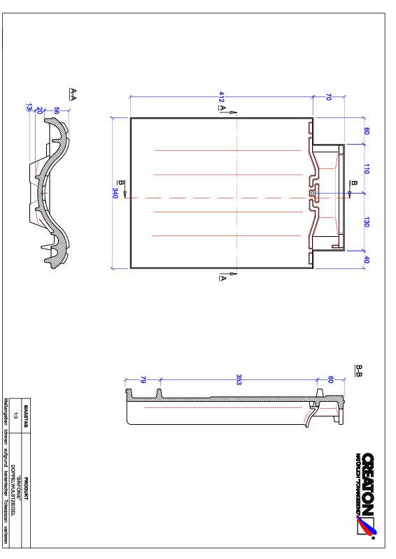 Proizvod CAD file SINFONIE crijep sa dva vala DWZ