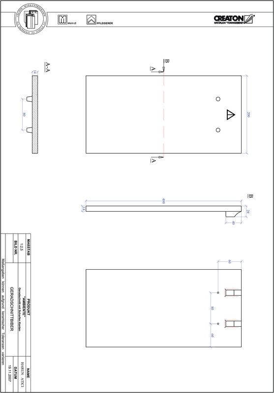 Proizvod CAD file AMBIENTE ravno rezani GER-SCHARFE-KANTE