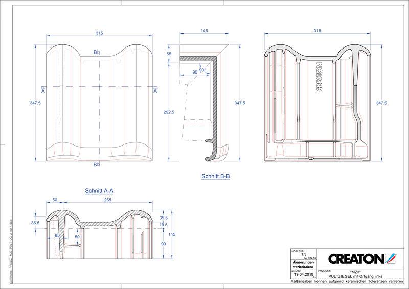 Proizvod CAD file MZ3 NEU pult crijep rubni lijevi PULTOGL