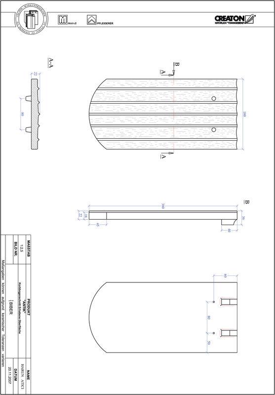 Proizvod CAD file ANTIK eliptično rezani KORB-ERHO