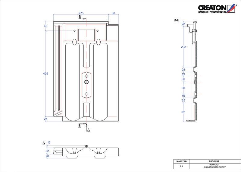 Proizvod CAD file RAPIDO aluminijski crijep GRUNDALU