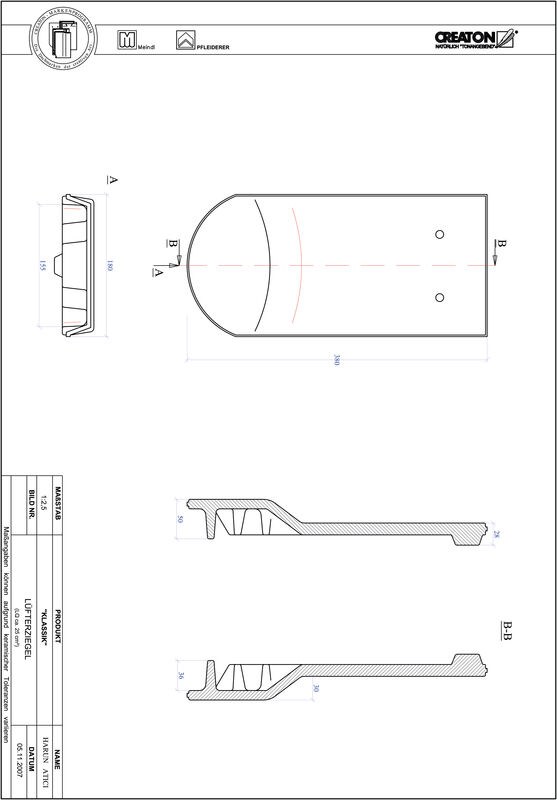 Proizvod CAD file KLASSIK zaobljeni RUND-LUEFTZ