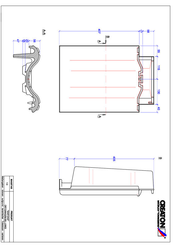 Proizvod CAD file SINFONIE rubni lijevi OGL
