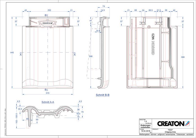 Proizvod CAD file MZ3 NEU rubni lijevi OGL