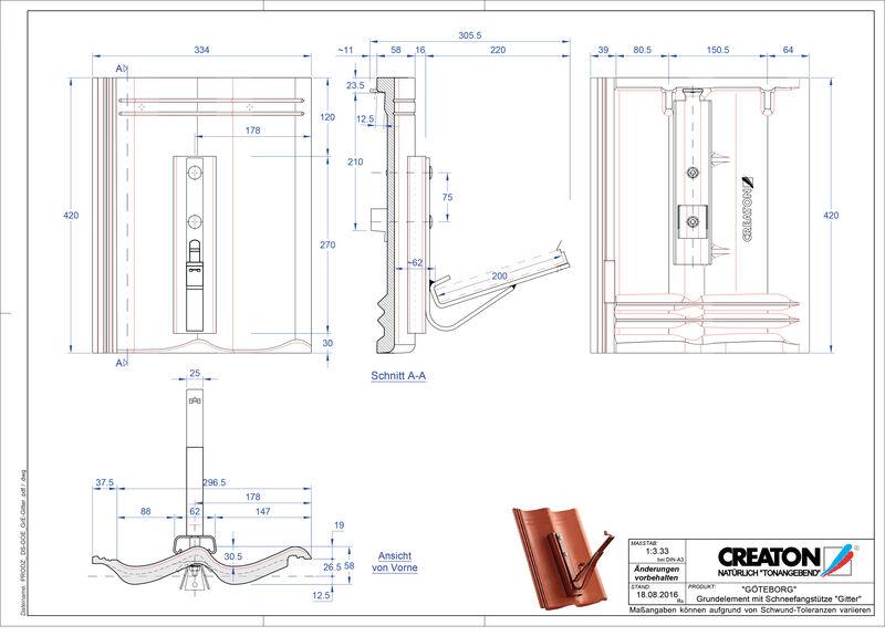 Proizvod CAD file GÖTEBORG temelj element Gitter