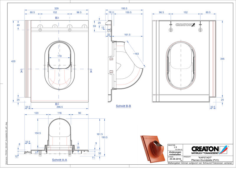 Proizvod CAD file KAPSTADT dodaci Grundplatte-PVC