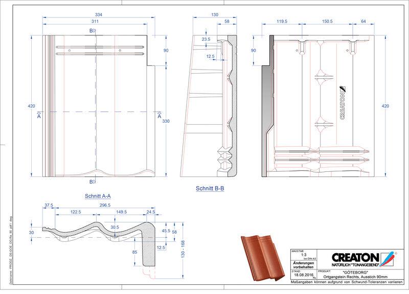 Proizvod CAD file GÖTEBORG betonski pult crijep rubni desni PultOGR-90