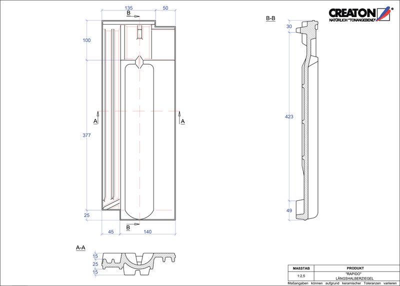 Proizvod CAD file RAPIDO polovica crijepa LH