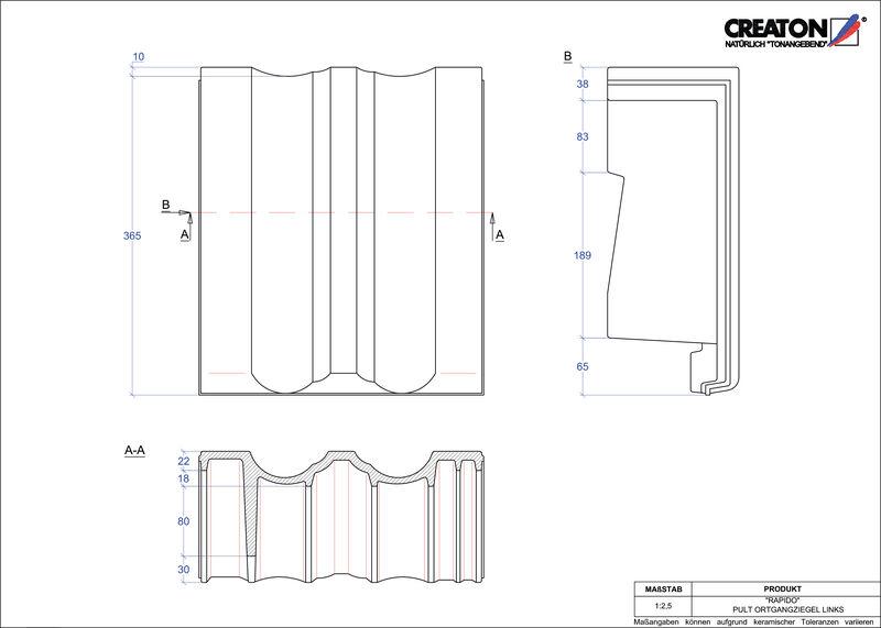 Proizvod CAD file RAPIDO pult crijep rubni lijevi PULTOGL