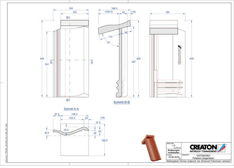 Proizvod CAD file GÖTEBORG betonski pult crijep Pult-halb
