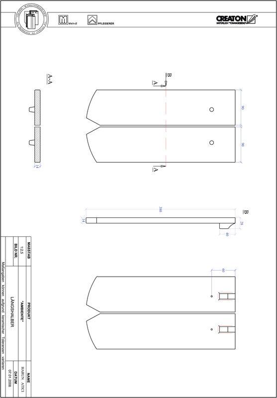 Proizvod CAD file AMBIENTE segmentni rez SEG-LH