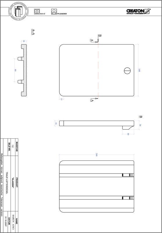 Proizvod CAD file KLASSIK zaobljeni RUND-TRAUF-LUEFTZ