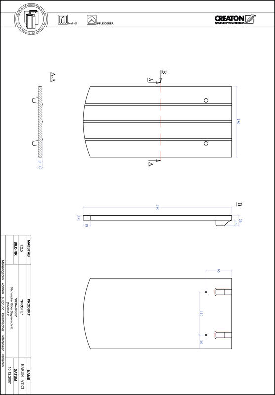 Proizvod CAD file PROFIL segmentni rez KERA-SAECHS-18-CM-1-1