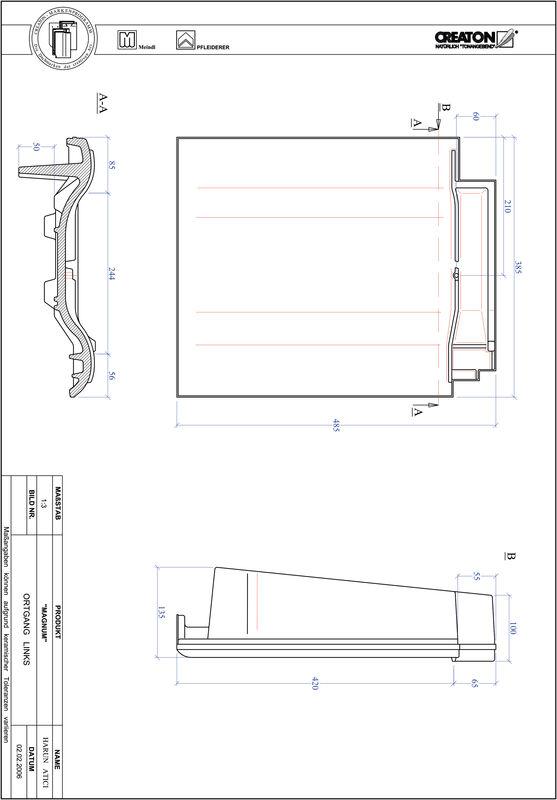 Proizvod CAD file MAGNUM rubni lijevi OGL