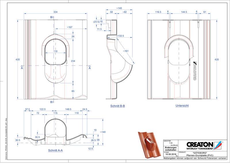 Proizvod CAD file GÖTEBORG dodaci Grundplatte-PVC