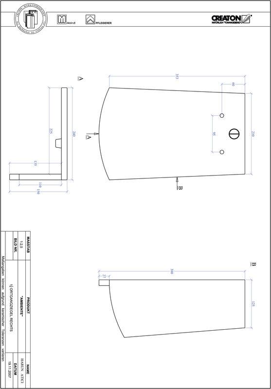 Proizvod CAD file AMBIENTE segmentni rez SEG-OGR-1-1-4