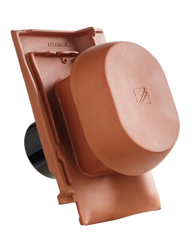FUT SIGNUM keramički oluk vent DN 125 mm sa pomična kapa, uklj. adapter za nadstrešnice i fleksi cijevi