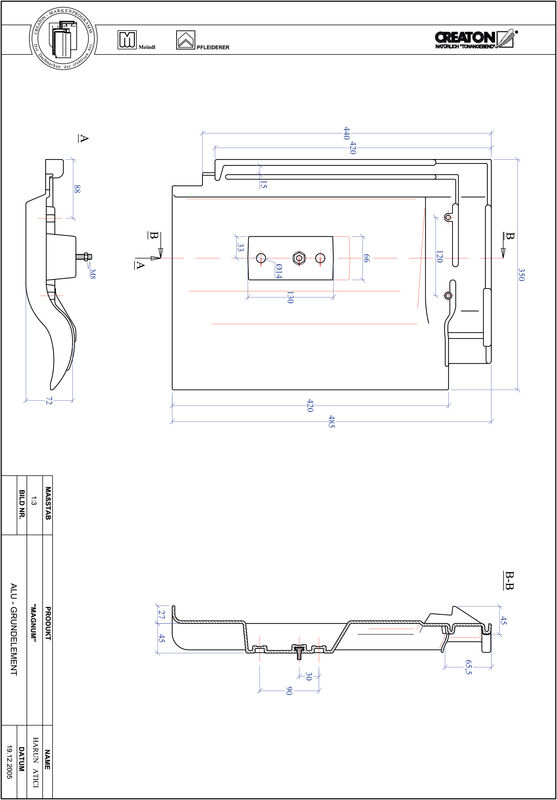 Proizvod CAD file MAGNUM aluminijski crijep GRUNDALU